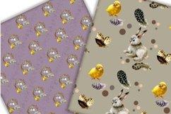 Easter digital paper pack.Vintage pattern. Product Image 3