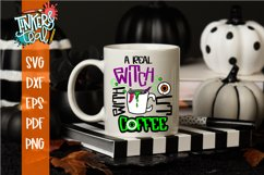 A Real Witch Without Coffee Halloween SVG Cut File Product Image 2