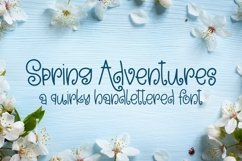 Web Font Spring Adventures - A Quirky Hand-Lettered Font Product Image 1