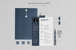 Jonathan Resume with Cover Letter Professional Template Product Image 1