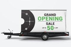 Mobile Billboard Trailer Advertising Sign Mockup Product Image 3