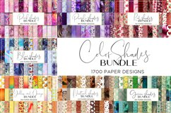 Color Shades BUNDLE digital paper pattern Product Image 1