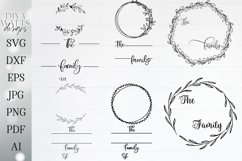 Family Monogram / Last Name Bundle - Sign Makers SVG DXF Set Product Image 1