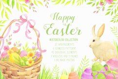 Happy Easter watercolor collection Product Image 1