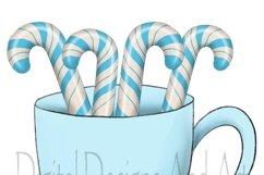 Blue snowman clipart Product Image 2