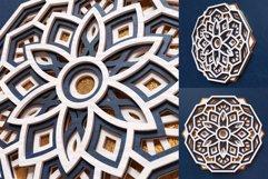 Mandala 3D Layered SVG Cut File - Laser Cutting Product Image 3