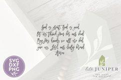 God Is Great God Is Good SVG, Prayer SVG, Christian SVG Product Image 2