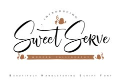SweetServe | Modern Calligraphy Script Font Product Image 1