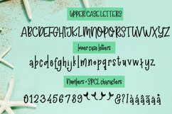 Madison's tail - A mermaid font plus nautical doodles Product Image 2