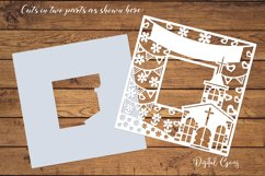 Church frame paper cut design SVG / DXF / EPS / PNG files Product Image 2