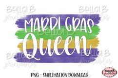 Mardi Gras Sublimation Design, Mardi Gras Queen Product Image 1