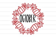 Happy Harvest - A Tall Font And Fall Doodle Duo Product Image 6