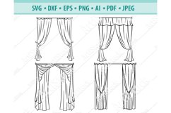 Curtains svg, Theater curtain Png, Cinema curtain Eps, Dxf Product Image 1