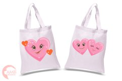 Valentine faces clipart, Heart emojis clipart, graphics illustrations AMB-1172 Product Image 2