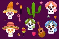 Dia de los muertos vector graphic, Day of the dead svg Product Image 2