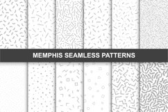 Memphis seamless patterns. Swatches. Product Image 1