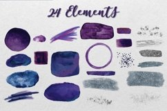Violet and Navy Watercolor Collection Product Image 2