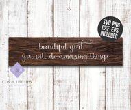 Beautiful Girl Wood Sign Stencil SVG Product Image 3