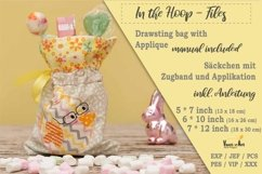 ITH -Drawstring Bag with Chick Motif - Embroidery File Product Image 2