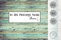 Jesus Name Amen Christian SVG PNG DXF Product Image 1