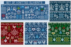 Knitted elements, symbols and Christmas decorations Product Image 1