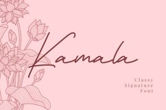 Kamala - Classy Signature Font Product Image 1