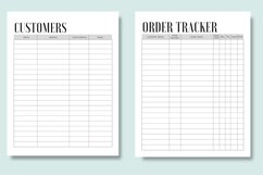 Business Order Form, Customer and Order Trackers Product Image 3
