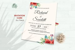 Wedding Invitation Set #4 Watercolor Floral Flower Style Product Image 2