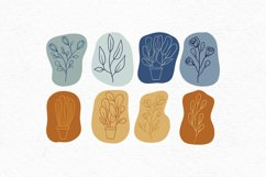 Hand-drawn boho clipart   Bohemian plants and flower clipart Product Image 3