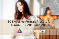 50 Exclusive Portrait Presets for Aurora HDR 2018 and 2019 Product Image 1