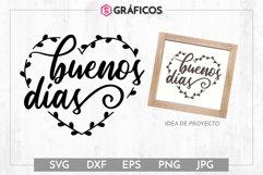 Buenos días SVG - Frases decoración Product Image 1