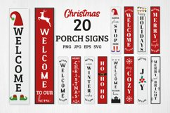 20 Christmas porch signs, Christmas Welcome signs bundle Product Image 1