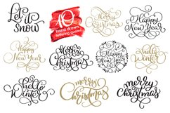Merry Christmas Quotes and Objects Calligraphy Collection Product Image 4