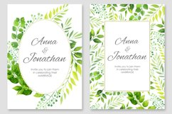 Floral Wedding invitations vector set Product Image 3
