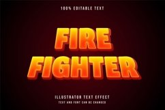 Fire fighter - Text Effect Product Image 1