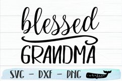 Blessed Grandma Silhouette and Cricut Cut File Product Image 2