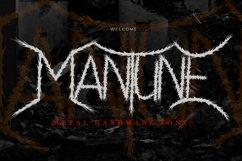 Mantune | Death Metal Font Product Image 1