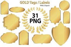 Gold Clip Art Tags and Labels Product Image 1
