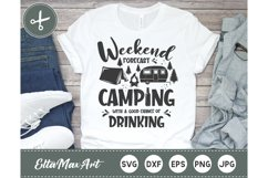Weekend forecast camping with a good chance of drinking Product Image 1