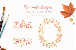 Autumn forest   Watercolor   Fall Product Image 6