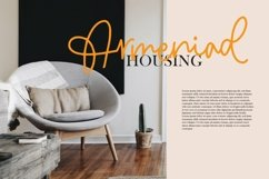 Web Font Hallida - Script Monoline Fonts Product Image 5