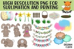 Spring Easter Elements PNG for Sublimation Product Image 1