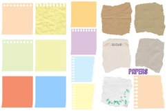 Notepapers, Pins, Paper Clips, Washi Tape Etc. Clip Art Product Image 4