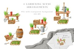 Gardening Watercolor Clipart. Spring Garden Tools PNG Set Product Image 4