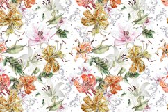 Hand Drawn watercolor flowers lily Product Image 5