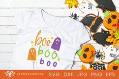 Halloween Svg Cut Happy Boo Boo Boo Quote Ghost Clipart Product Image 2