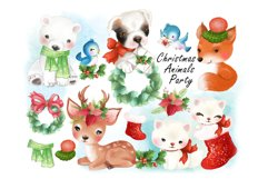 Christmas Animals Party clipat. Product Image 1