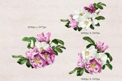 Wild roses clipart. Pink and white roses bouquets. Product Image 3