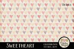 Shabby Damask Sweetheart Background Textures Product Image 2