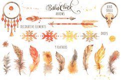 Boho Chick Watercolor Cliparts Product Image 4